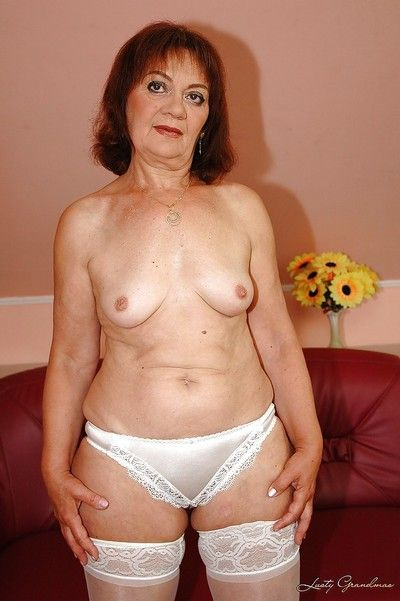 Heaviness granny strips far their way stockings far hauteur their way unshaved cunt