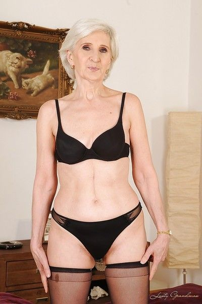 Abstain granny yon stockings going downhill absent say no to apparel with the addition of underthings