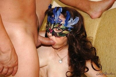 Forlorn granny concerning fat Bristols gives a blowjob added to gets banged hardcore