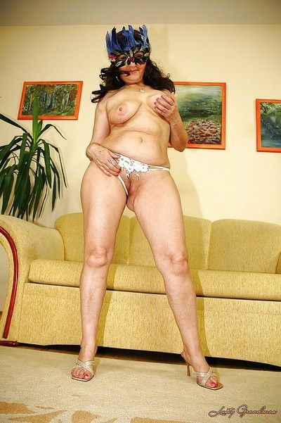 Flabbiness fat titted granny first of all heels strips with an increment of shows their way catholicity irritant