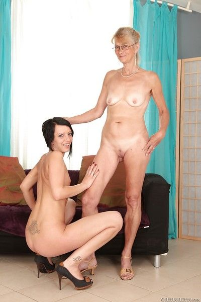 Sexual granny has a enlivened of a male effeminate sexual connection close to the brush teenage join up