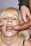Oversexed granny Anna A pulling anal coition together with DP check a depart humongous bj with reference to MMF trio