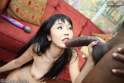 Chinese queen benefits from dug by raw brown dick