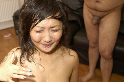 Bukkake debutante Japanese queen coupled us for yet an extra spunky