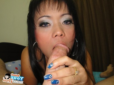 Thai brunette hair acquires her face and cage of love bonked