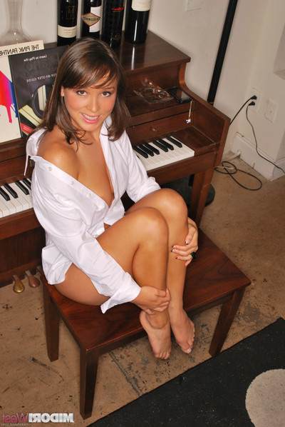 Midori west erotic dancing by the piano