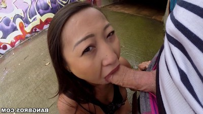 Deviant Chinese darling sharon lee group-fucked in public places