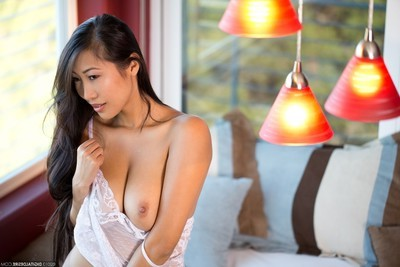 Attractive Japanese sharon lee in a wild nightgown not featured underwear