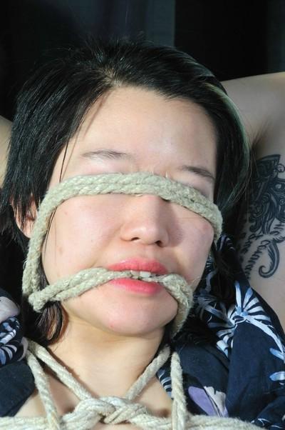 Devils eastern Japanese rope obedience face obedience