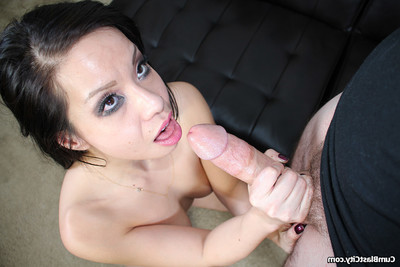 undersize Japanese dear kimmy jerking off rod to cock cream