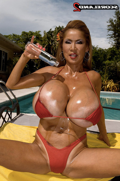 Huge oil spill on vast titted oriental calm minka
