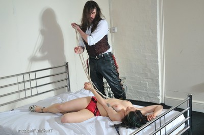 Infant eastern is teased and tormented on her daybed by her taskmaster