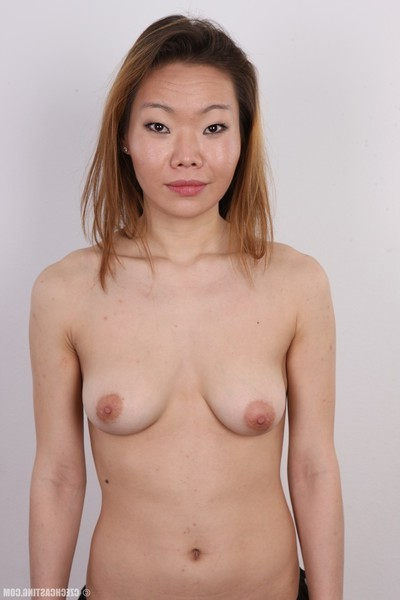 Oriental cutie in casting session