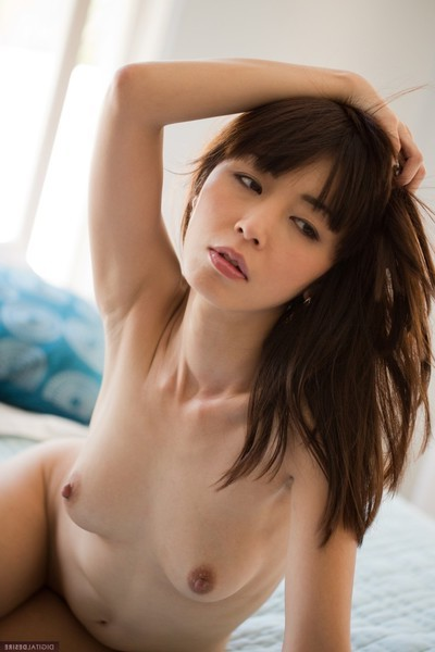 Marica hase displays her tiny body for all