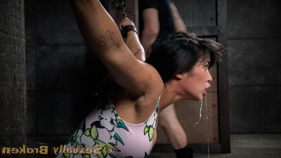 Major breasted oriental mia li cums hard, tugging uselessly on her chains. we are not