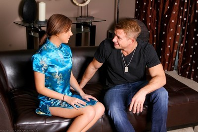 Attractive darlings going appealing with massage