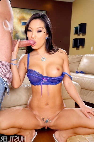 Asa akira receives group-fucked in her stunning blue sheer underware