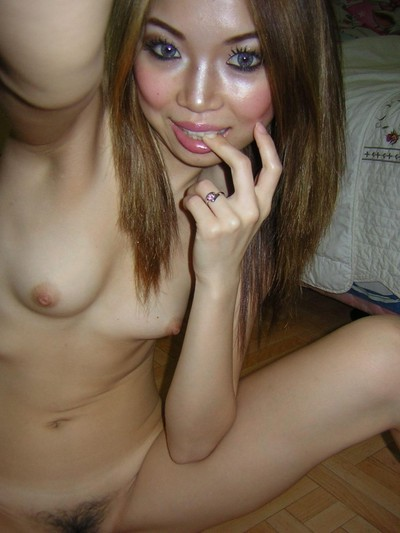 Dirty and sticky selfpics taken by an teen Japanese hottie
