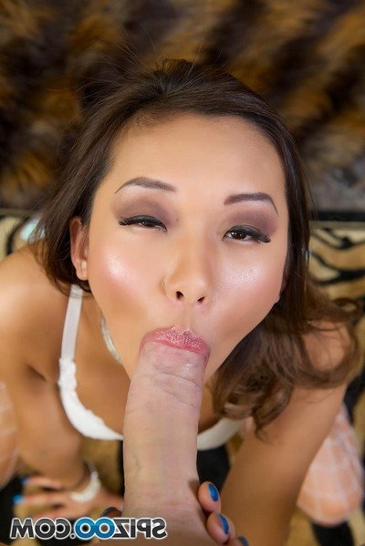 Alina li chinese pornstar gives pov suckjob