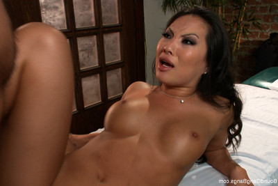 Asa akira in severe 5 dude gangbang! owned in bondage, pressed airtight, creamp