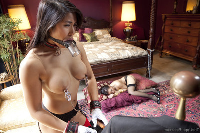 When quarters bond mia li breaks the rules, the dom-master of the quarters takes gabriell