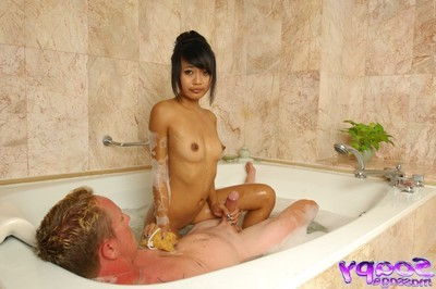 Soapy Japanese massage with hardcore
