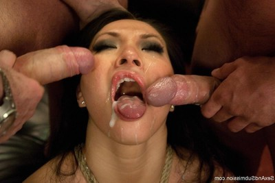 Hot darling obtains attached up, dominated and tough bonked in subordination