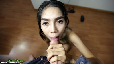 Thin thai juvenile with  snatch and largest love muffins creampied