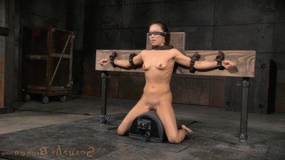 Sybianed fucking action demon crucified and throatboarded fond of a drooling mess of slut!