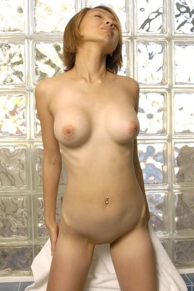 Slim eastern model posing exposed