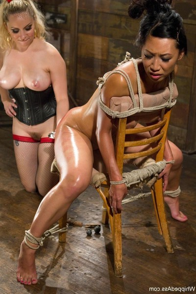 Hot immense titted eastern angel accepts fixed up and owned by lezdom