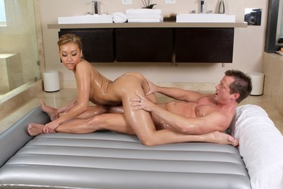 Spectacular chicos going hawt with massage