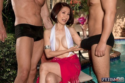 Japanese wife kim anh purchases dualistic knobs in rectal hole