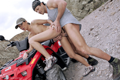Ass-drilling adventure in the desert with Japanese pornstar vanessa may