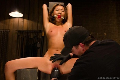 Teen-age years old oriental beginner is punished and owned in subjection