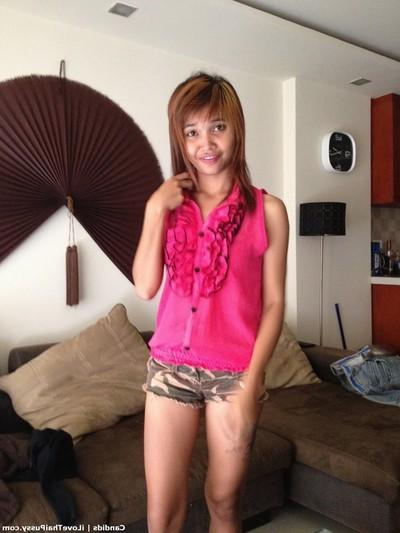 Sticky thai bargirl bareback no fucking-rubber creampie sexual act tourist admires Chinese pretty