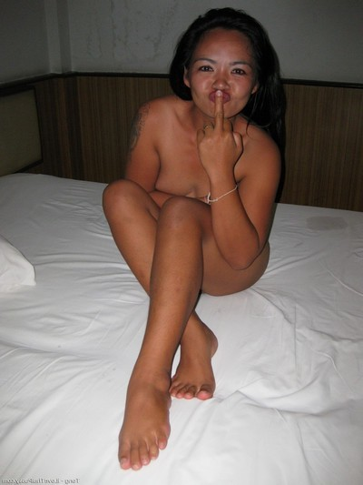 Clammy thai gogo slut owned by excited banging tourist Japanese strumpets love bareback dick