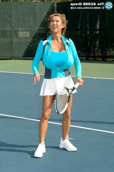Large zeppelins eastern ripe minka playing tennis with her front bumpers and ba