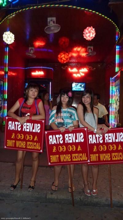 Perspired thai street wench no jo-bag bareback tough banging Japanese wench tricked