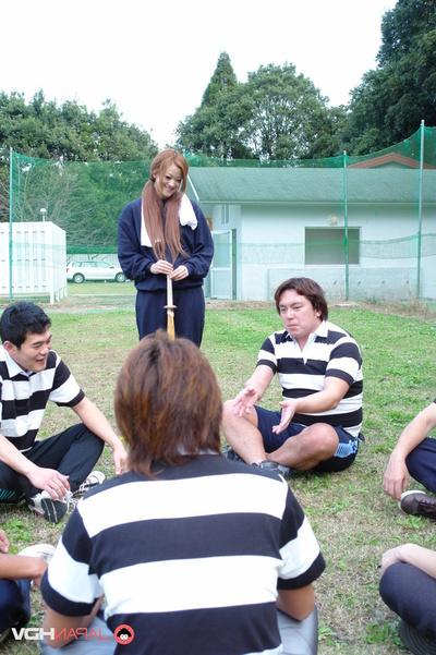 Moist Kendo Teacher In Blue Sweats Sucks A Players Cock.