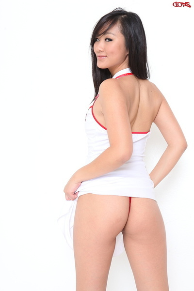 Oriental Nurse Sucks A Biggest Rod And Purchases Rammed So Well