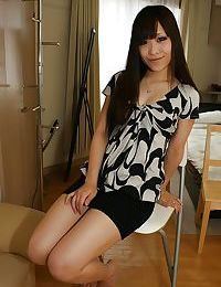Chinese amateur with shiny on top gash Nami Konno undressing and swelling her appealing legs
