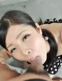 Oriental youthful Mana Kikuchi gives head and benefits from maw total of creamy semen