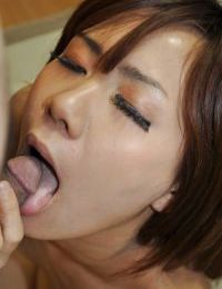Oriental doll Nozomi Kahara gives head and enjoys carnal very