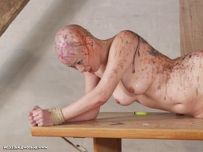 Chinese sadomasochism and severe hotwax drill of hairless chinese slavegirl kumimonste