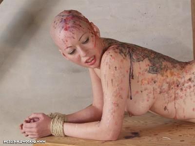 Chinese sadomasochism and severe hotwax drill of hairless chinese slavegirl kumimonste