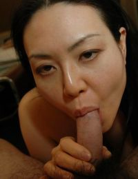 Eastern MILF Sonoko Yoneda benefits from her curly fur pie nailed and creampied