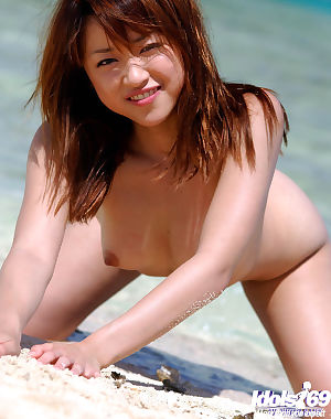Sweet oriental young dear Asuka Kyono delightsome off her bikini outdoor - part 2