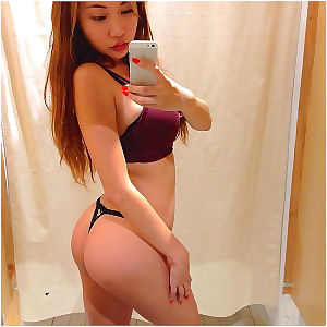 Busty titsy Japanese gfs posing for the webcam - part 13