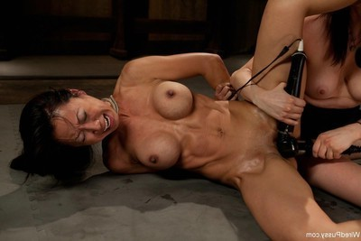 Tia ling owned heavy in the arse with electricity pulsing